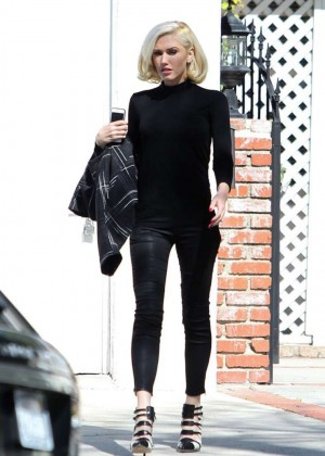 Gwen Stefani in Tight Pants out in Studio City