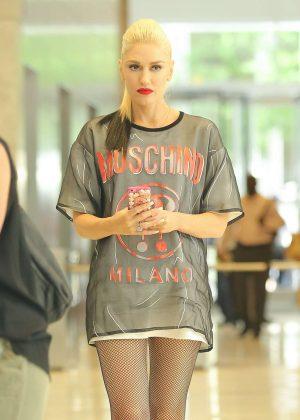 Gwen Stefani Leaving SiriusXM Studios in NYC