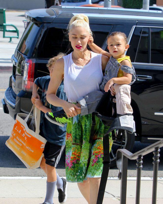 Gwen Stefani with children heading to church -21