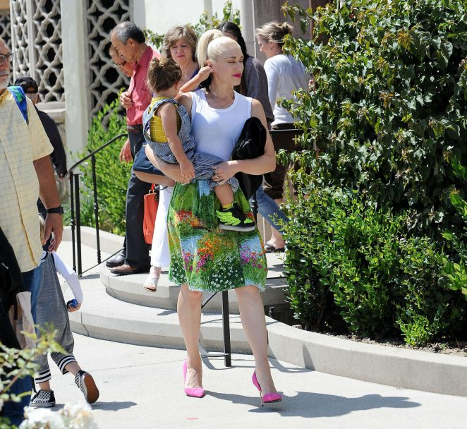 Gwen Stefani with children heading to church -22