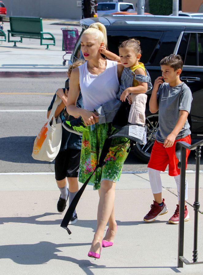 Gwen Stefani with children heading to church -23