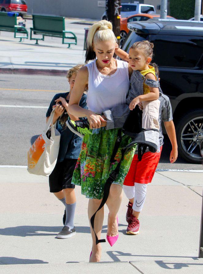 Gwen Stefani with children heading to church -24