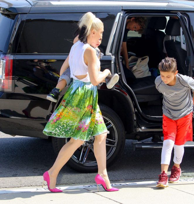 Gwen Stefani with children heading to church -29