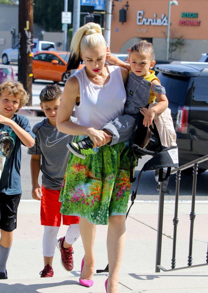 Gwen Stefani with children heading to church -34