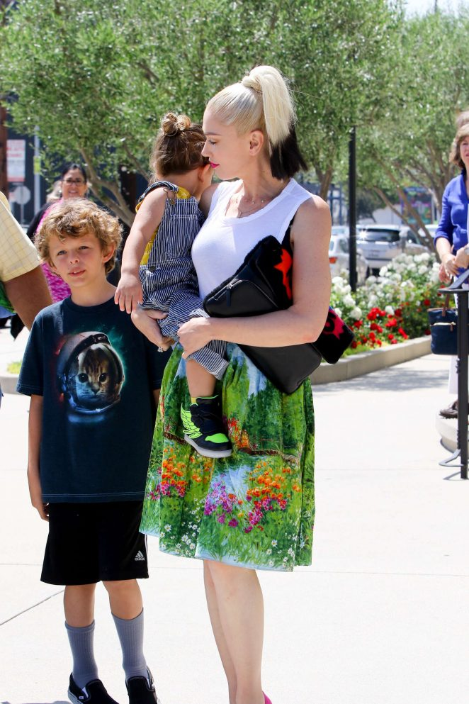Gwen Stefani with children heading to church -37