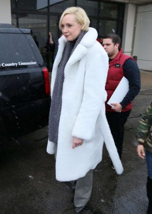 Gwendoline Christie - Arriving at Salt Lake City Airport