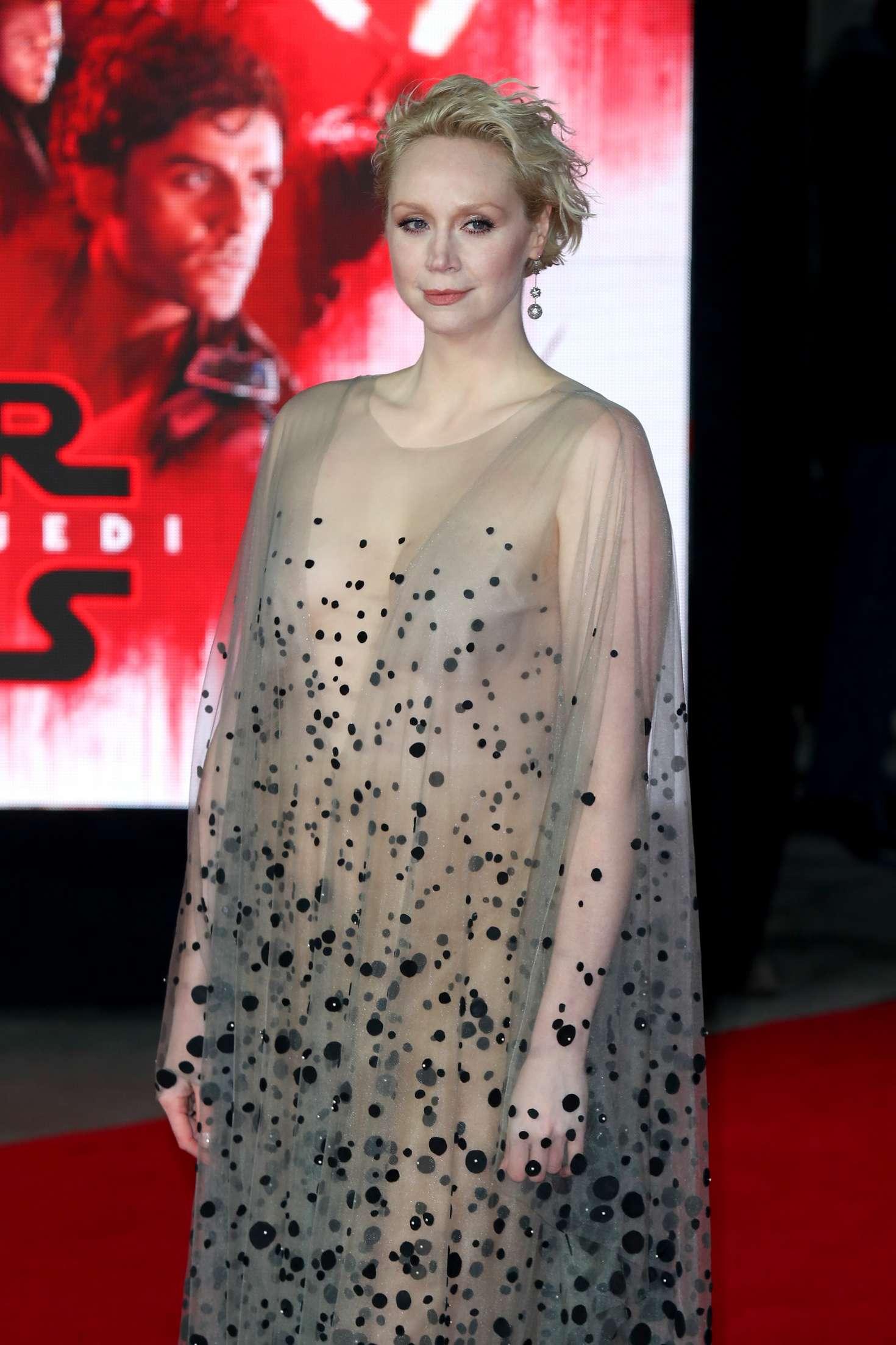 Gwendoline Christie Star Wars The Last Jedi Premiere