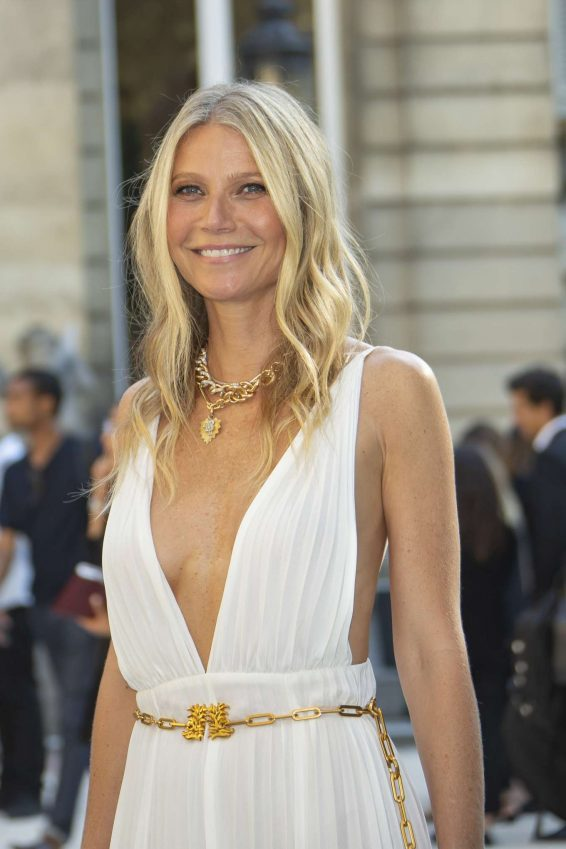 Gwyneth Paltrow - Arrives at Valentino Haute Couture Show in Paris