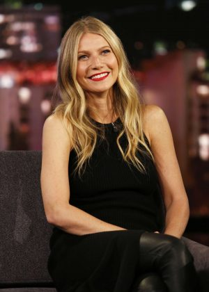 Gwyneth Paltrow at Jimmy Kimmel Live! in Los Angeles