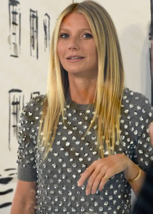 Gwyneth Paltrow at Michael Kors new store in London