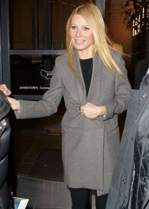Gwyneth Paltrow - Heads for an Interview With Howard Stern in NY