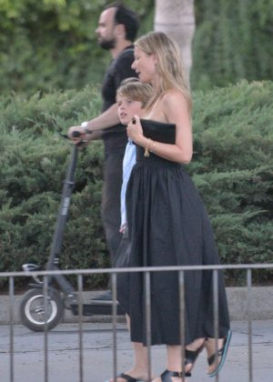 Gwyneth Paltrow in Black Long Dress out in Sevilla