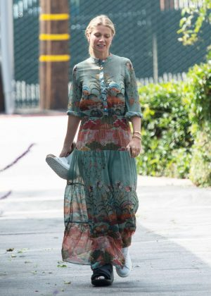 Gwyneth Paltrow in Long Dress out in Los Angeles