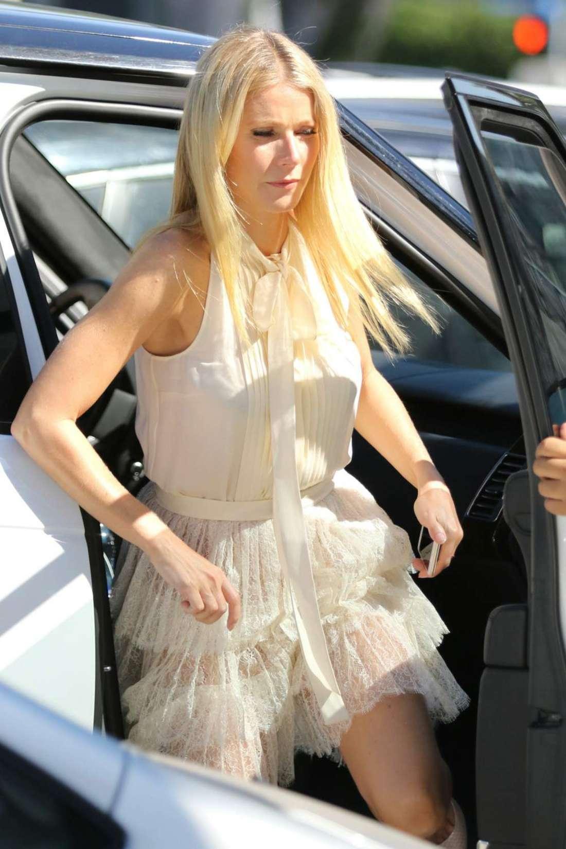 Gwyneth Paltrow in Short Dress at Craig's restaurant in LA