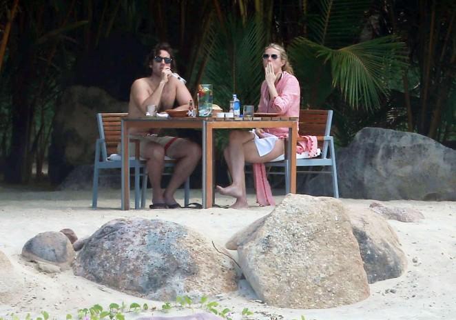 Gwyneth Paltrow 2016 : Gwyneth Paltrow in White Bikini -03