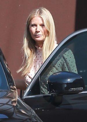 Gwyneth Paltrow - Leaving her office in Santa Monica