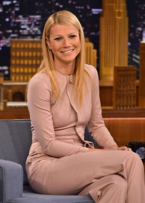 "Gwyneth Paltrow on ""The Tonight Show Starring Jimmy Fallon"" in New York"