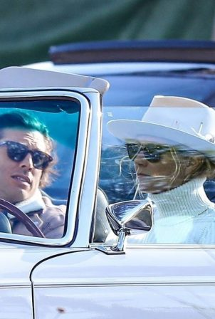 Gwyneth Paltrow - Pictured in a classic convertible Mercedes Benz in West Hollywood