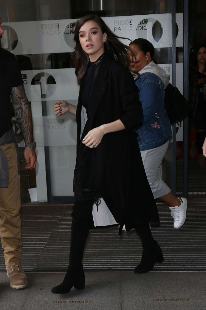 Hailee Steinfeld at BBC Radio 1 Studios in London