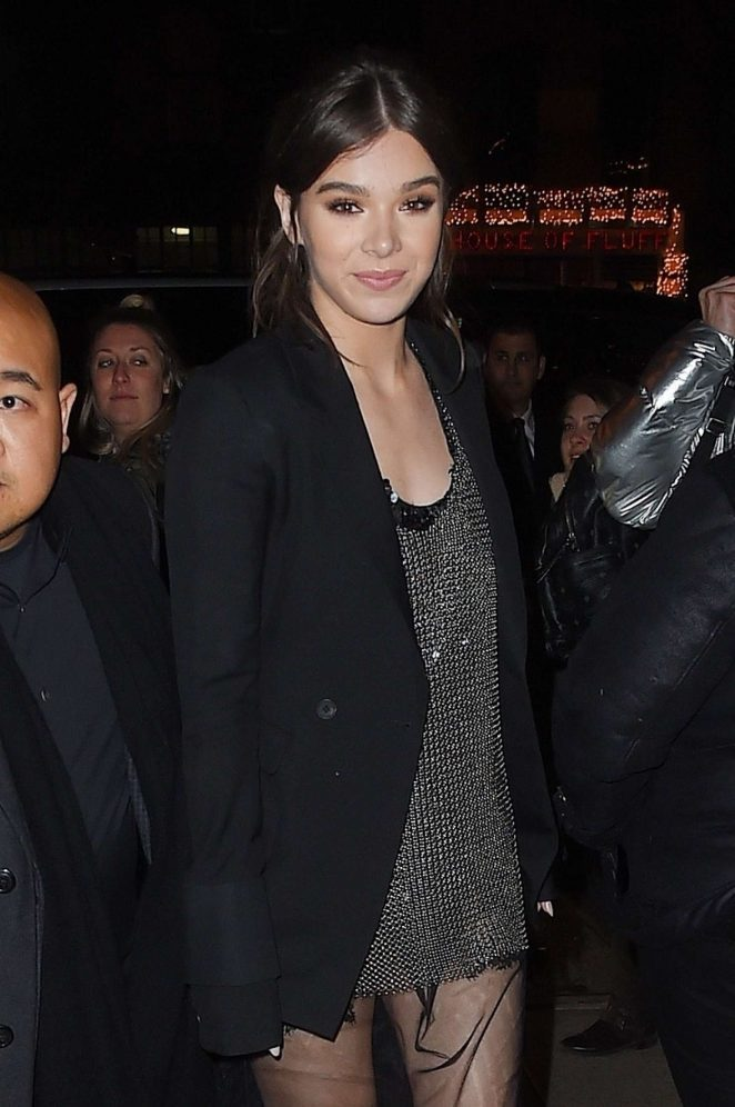 Hailee Steinfeld at GRAMMY Awards party at Cadillac House in NYC