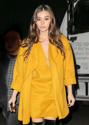 Hailee Steinfeld at her hotel in New York