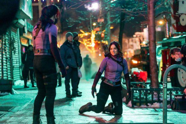Hailee Steinfeld - Filming a scene for 'Hawkeye' in the East Village