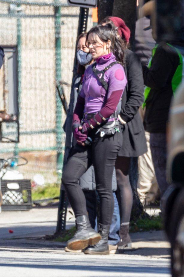 Hailee Steinfeld - Filming 'Hawkeye' set in Atlanta