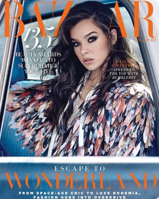 Hailee Steinfeld for Harper's Bazaar Singapore Cover (November 2018)