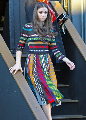 Hailee Steinfeld in Colorful Outfit Leaves a Studio in Santa Monica