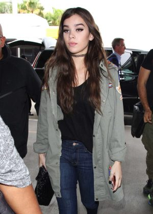 Hailee Steinfeld in Jeans at LAX Airport in Los Angeles