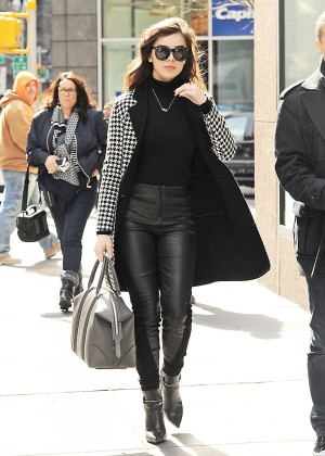 Hailee Steinfeld in Leather out in New York