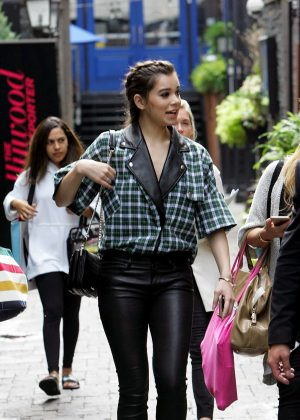 Hailee Steinfeld in Leather Out in Toronto