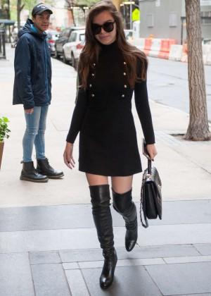 Hailee Steinfeld in Mini Dress out in New York