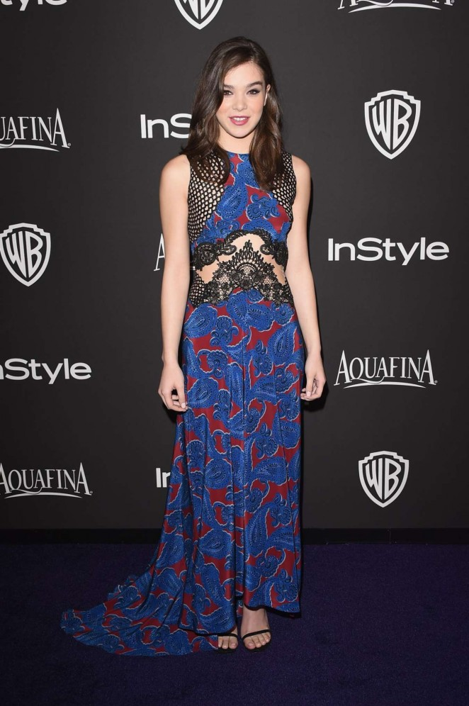 Hailee Steinfeld - InStyle And Warner Bros Golden Globes Party 2015 in Beverly Hills