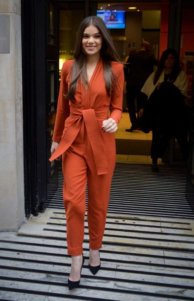 Hailee Steinfeld - Leaving the BBC Studios in London