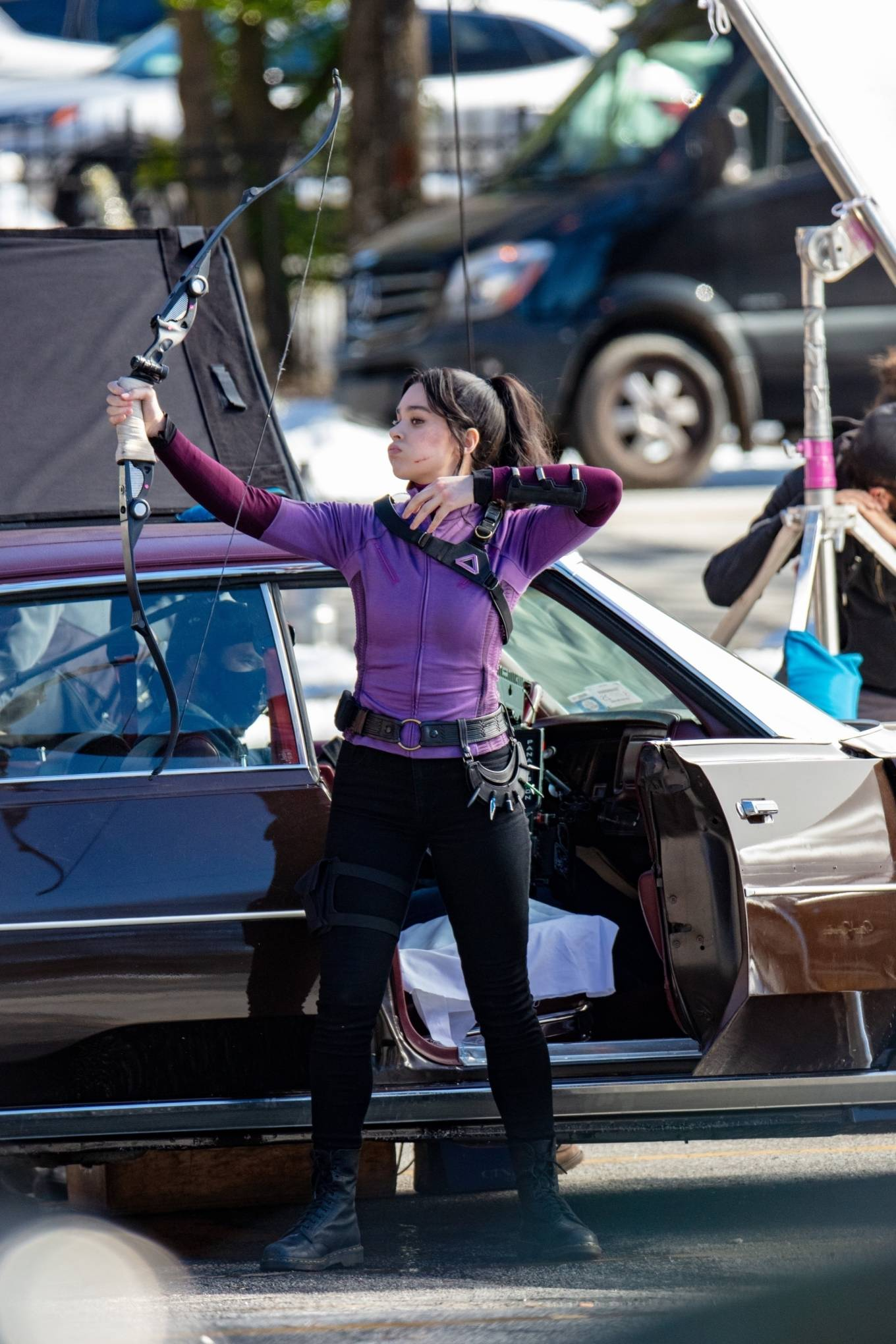 Hailee Steinfeld - On 'Hawkeye' set in Atlanta