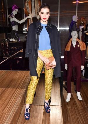 Hailee Steinfeld - Prada The Iconoclasts NYFW 2015 in NYC