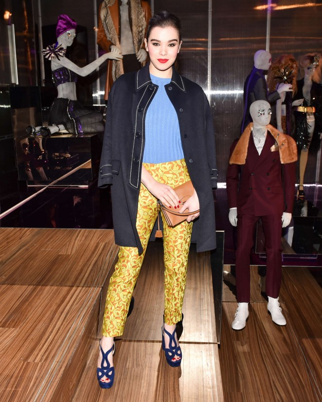 Hailee Steinfeld - Prada The Iconoclasts NYFW 2015 in NYC