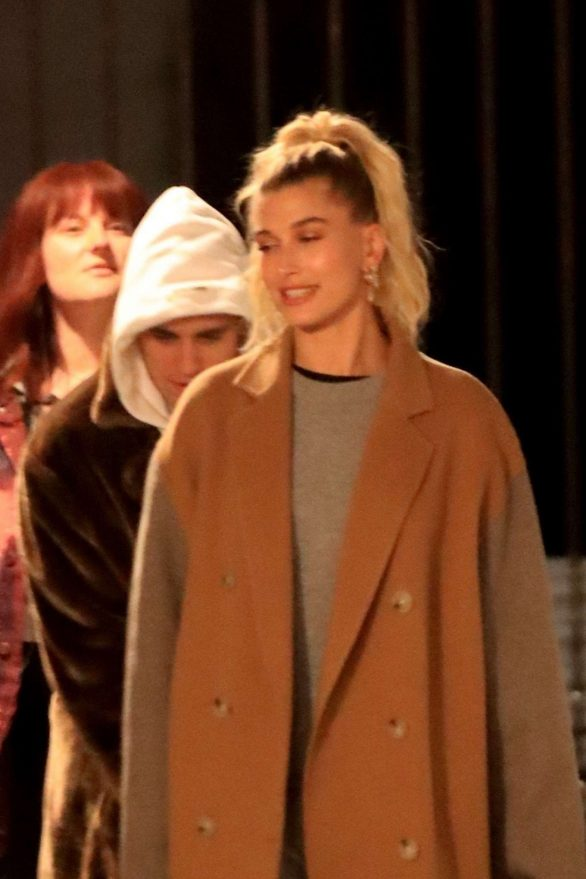 Hailey and Justin Bieber - Attend Wednesday night church service in Beverly Hills