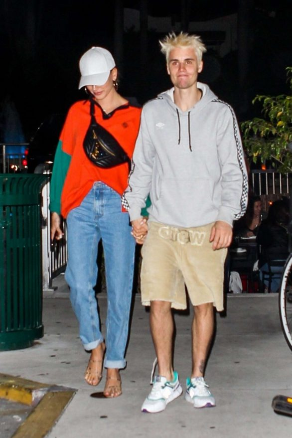 Hailey and Justin Bieber - Grab a sushi dinner in Miami