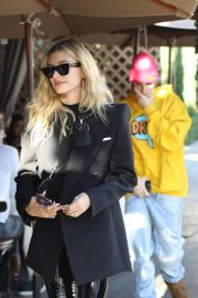 Hailey and Justin Bieber - Leaves IL Pastaio in Beverly Hills