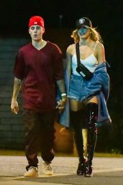 Hailey and Justin Bieber - Out partying in Beverly Hills