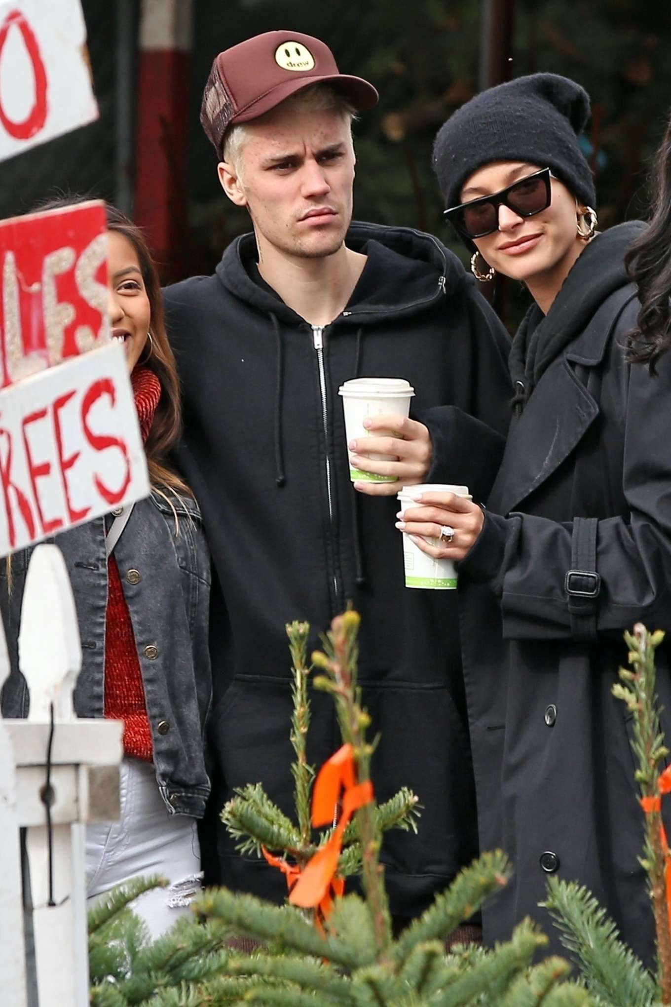 Hailey and Justin Bieber - Shopping at Mr. Jingle's Christmas Trees in Los Angeles