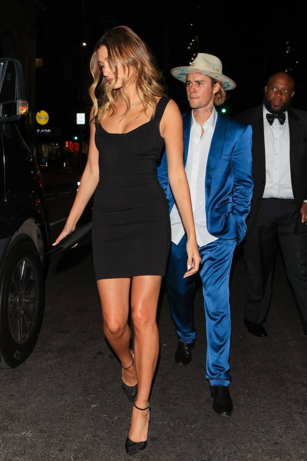 Hailey and Justin Bieber -  Spotted at Musician Harv's wedding in Los Angeles