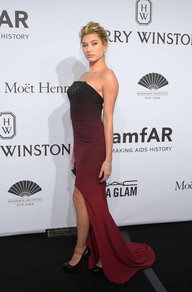 Hailey Baldwin - amfAR New York Gala 2015
