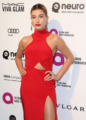 Hailey Baldwin - 2016 Elton John AIDS Foundation's Oscar Viewing Party in West Hollywood