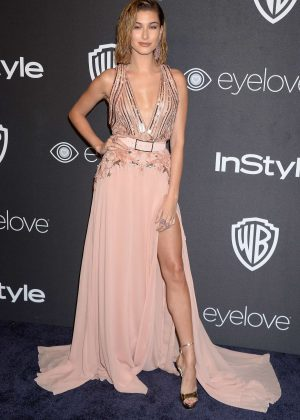 Hailey Baldwin - 2017 InStyle and Warner Bros Golden Globes After Party in LA