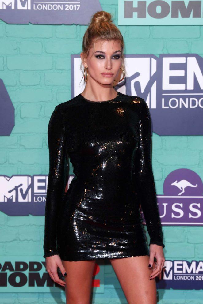 Hailey Baldwin – 2017 MTV Europe Music Awards in London