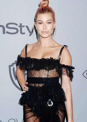 Hailey Baldwin - 2018 InStyle and Warner Bros Golden Globes After Party in LA