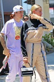 Hailey Baldwin and Justin Bieber - Leaves church in Los Angeles